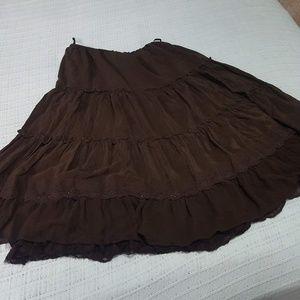 Laura Ashley Tiered Boho Hippie Skirt, Size PM🌼